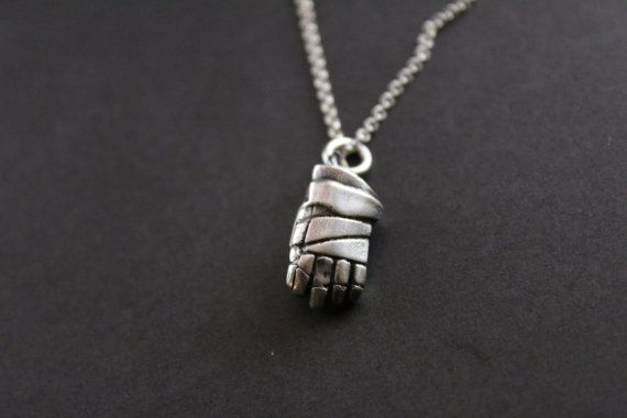 Check out this item in my Etsy shop https://www.etsy.com/ca/listing/271036285/sterling-silver-hockey-glove-pendant-ice