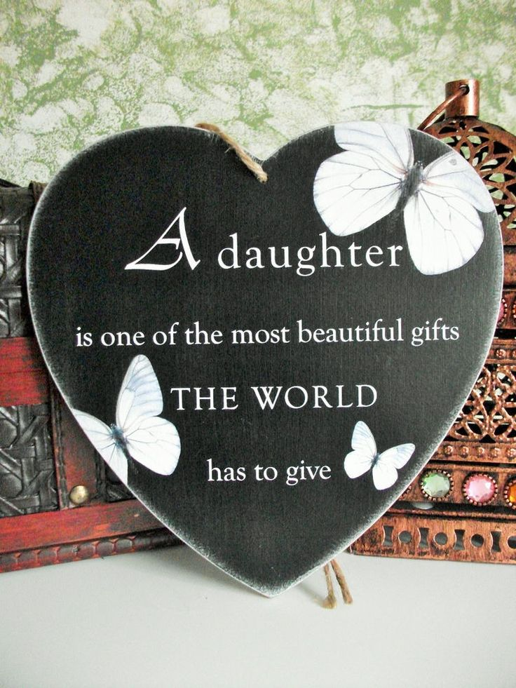 Daughter, children, family plaque, beautiful, HANDMADE plaque, gift idea