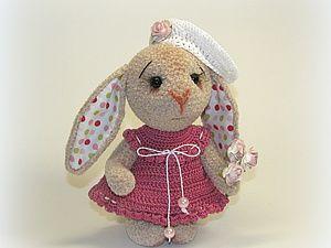 Платье для зайки (крючок) - Ярмарка Мастеров - ручная работа, handmade