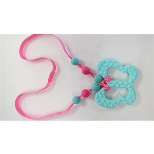 collier pour bébé - Papillon bleu