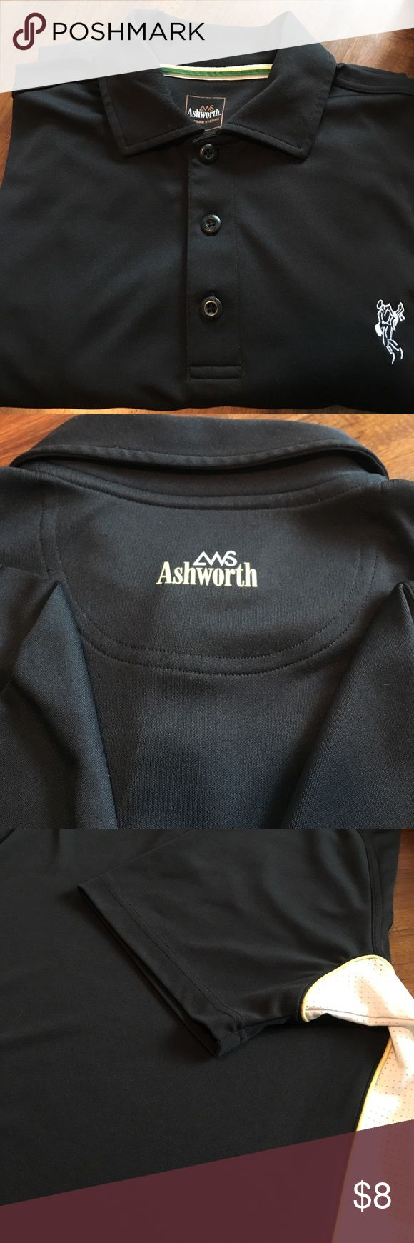 Ashworth Golf shirt Armpit to armpit is 21 inches. Length is 29 inches. Has a couple unnoticeable snags. Ashworth Shirts