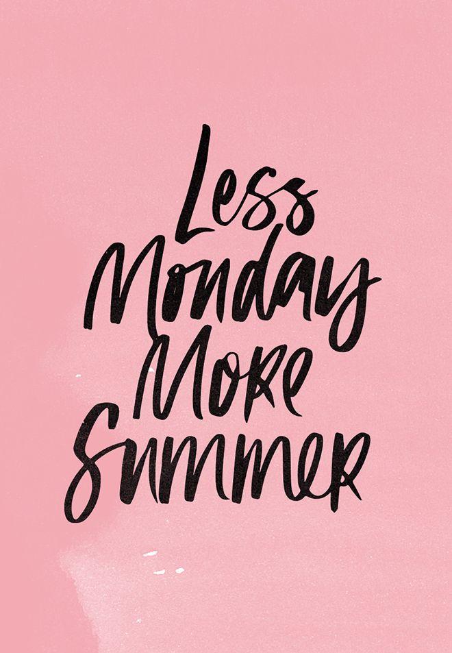Word! #Montag #Sommer #YOLO #summer #monday #chillout #Sprüche #Zitat #quote #statement #bebeyoungcare #natürlichschön #ganzschönbebe