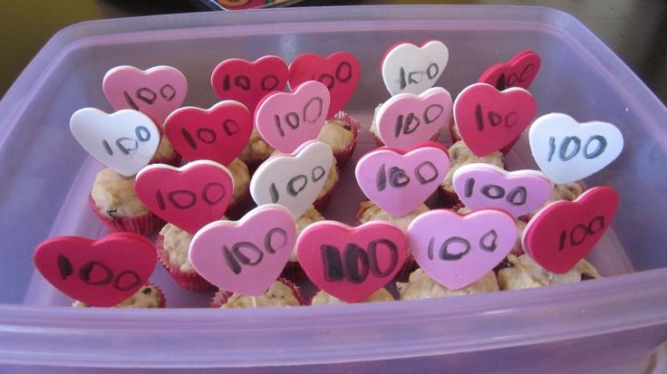 Muffins pour la fête des 100 jours fait avec Maïté :)