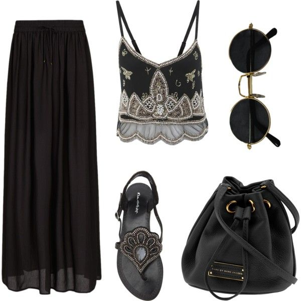 #black #boho #bohemian #fashion #style #summer #clothing #accessories #gypsy boho chic by taraawray on Polyvore