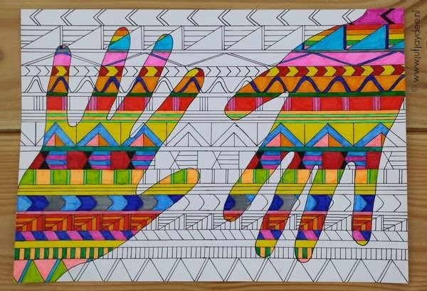 Teacher Jaydee: Hands with patterns