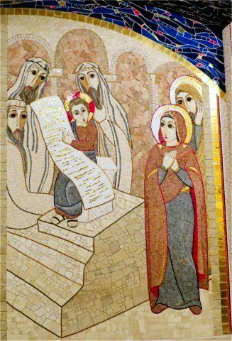 Mosaïque de Marco Rupnik - Le Recouvrement de Jésus au Temple - San Giovanni…