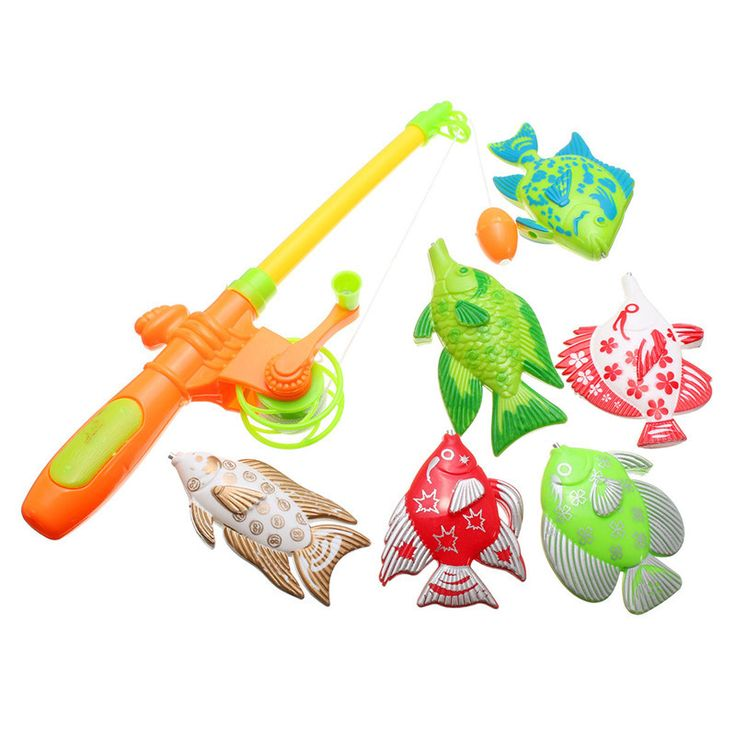Magnetic Fishing Toy With 6 fish And a Fishing Rods Outdoor Fun & Sports Fish Toy Gift for Baby / Kids