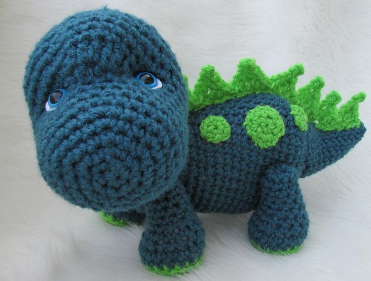 Looking for your next project? You're going to love Cute Dinosaur Crochet Pattern by designer Crews.