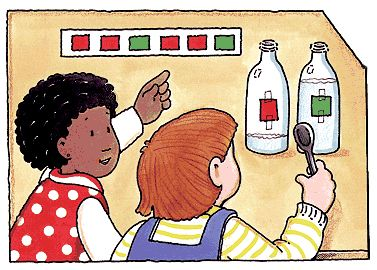 Musical Patterns lesson plan that promotes listening, reading and fine motor skills. Use this in a class for children to visually see differerent patterns and sounds that can be created though bottles filled with different water levels. Let them experiment with different colors, shapes and sounds. -Carly Miller