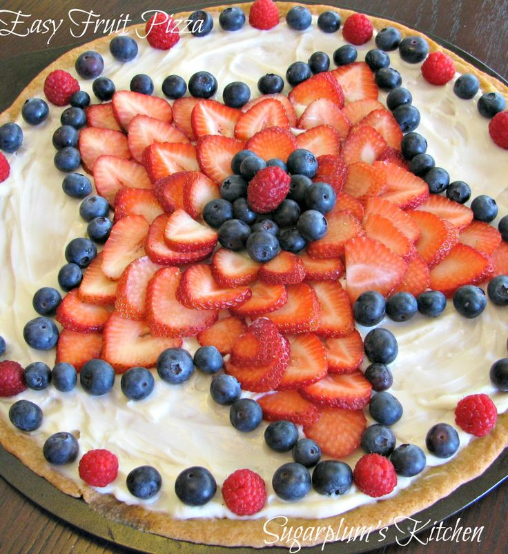 This fruit pizza is so yummy and is so easy to make. I have made this a few times now and it never lasts for long. The star design ...