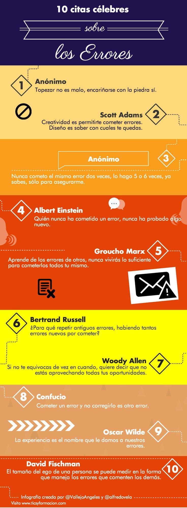 10 citas célebres sobre los errores #infografia
