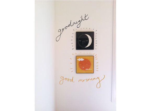 Goodnight & Goodmorning Vector Prints - Set of 2