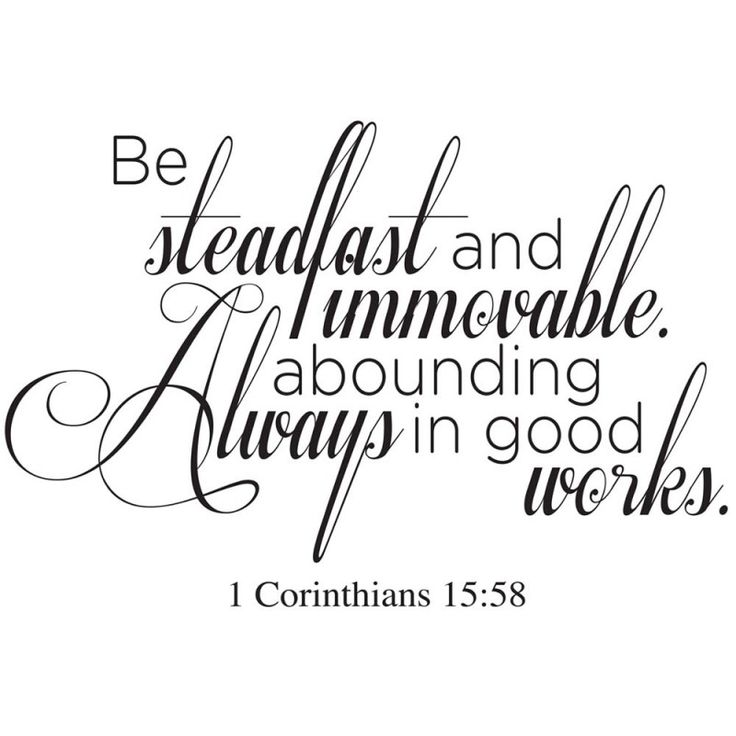 1 Corinthians 15:58 bible wall decal | Divine Walls