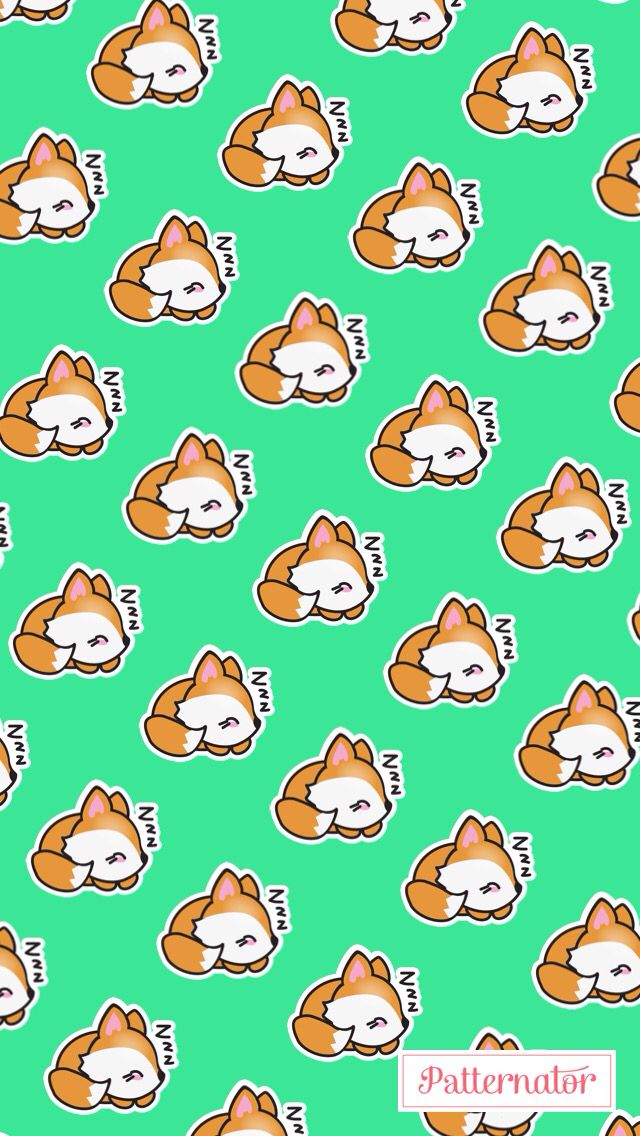 Sleeping fox wallpaper