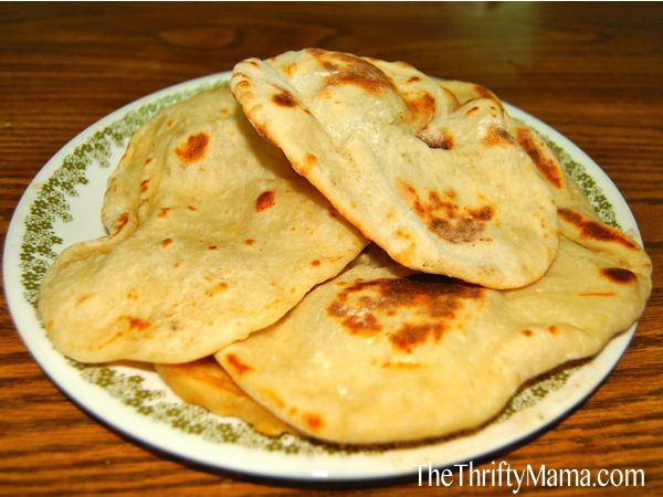 How to make naan bread....yum. Only 4 ingredients.