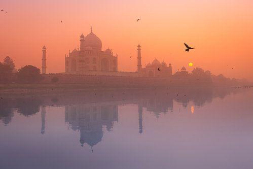 Misty Sunset by Marji Lang