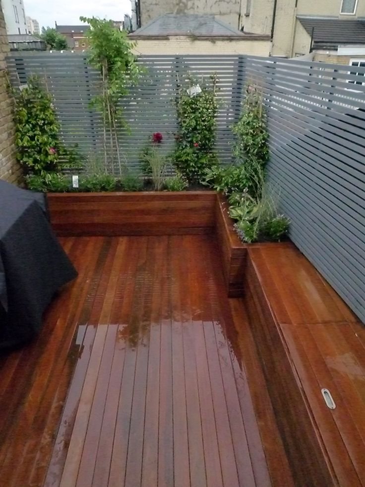 Small Roof Terrace Deck with Raised Beds Clapham