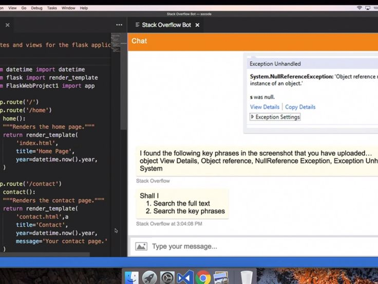 The bot answers English language queries about programming, drawing upon the information in the millions of questions and answers available via Stack Overflow.