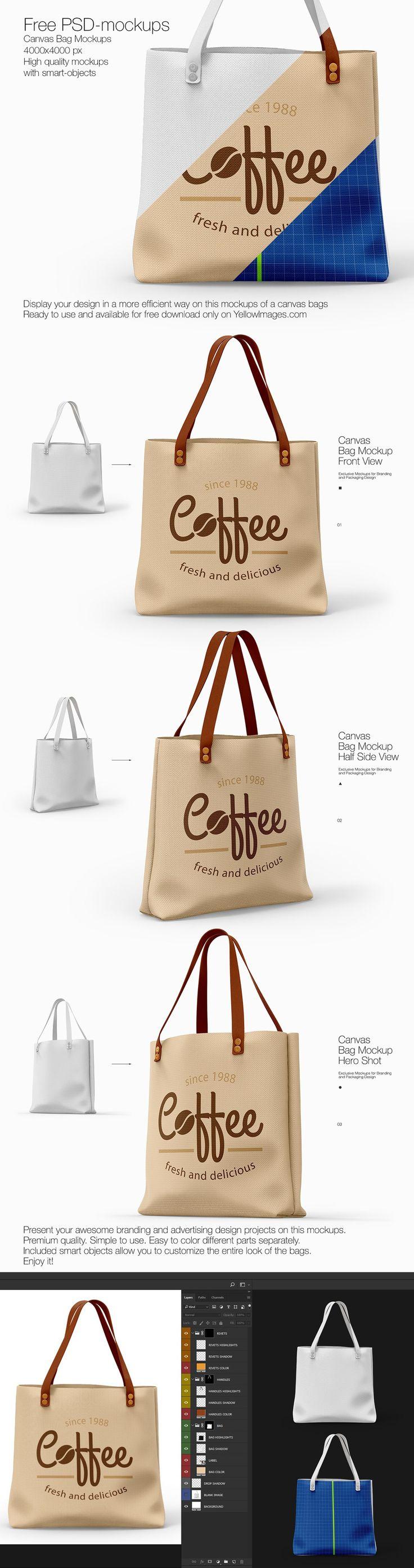 Free Canvas Bags PSD Mockup by Sergey Bandura