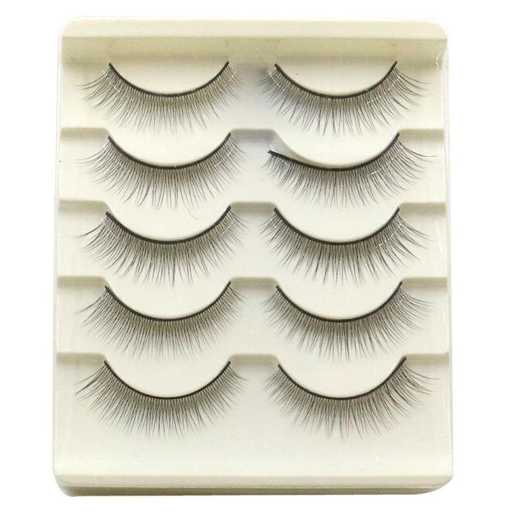 5 Pairs False Eyelashes, AMA(TM) Women Natural Handmade False Eye Lashes Extension Black Voluminous Eyelashes Makeup (White). Material:Synthetic fiber ; Quantity: 5 pairs. 5 pairs of eyelashes in natural style, can be used for many times. Volumizing and thickening your eyelashes make them look more curly. Our individual lashes are the closest thing to natural lashes ever developed. These exclusive knot-free individual lashes are permanently curled, waterproof, easy to apply, and…