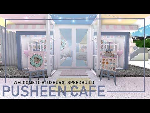 Bloxburg Pusheen Cafe Speedbuild Youtube Luxury