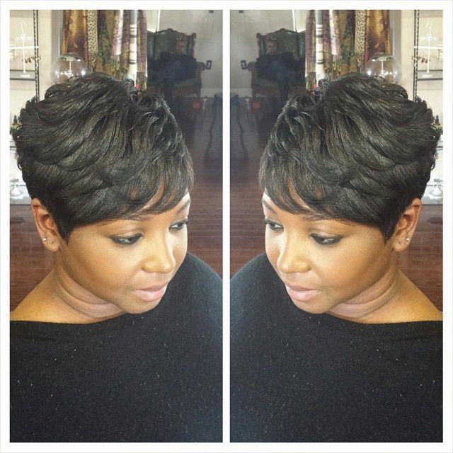 """Hair by Tanya #shorthair  @robinJADONjames"
