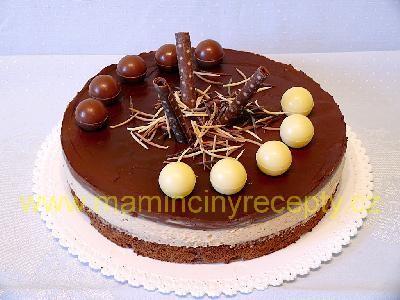 Čokoládovo-kávový dort