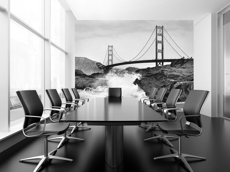 Non-Woven Wall Mural Golden Gate Bridge Premium Wall Murals Non-Woven Wall Murals 8-part