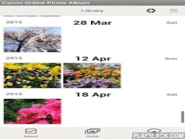 Canon Online Photo Album  Android App - playslack.com ,  This application allows you to use your CANON iMAGE GATEWAY Online Photo Album from your mobile device. With this application you can easily enjoy sharing your life in photos with your family and friends. [Features]- Create albums with your photos and movies, and share them with your family and friends easily . - Allow family and friends to add their photos and movies on shared albums and view their comments. - Store images in their…