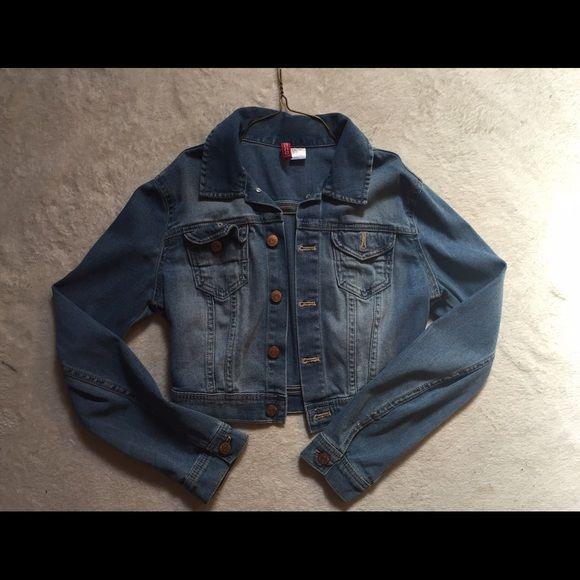 Jean Jacket Blue jean jacket small. Has a little stretch Jackets & Coats Jean Jackets