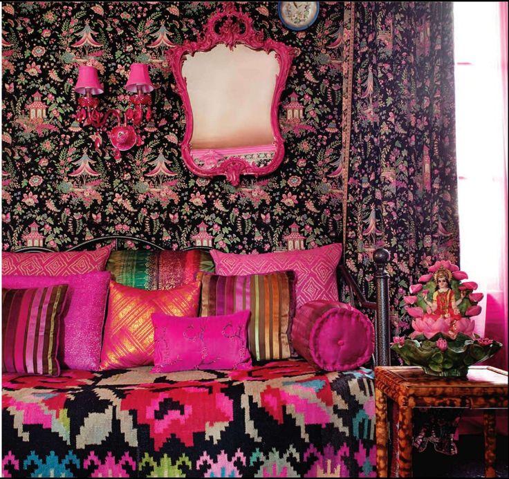 """Bollywood boudoir"" Mireille Sueur's real apartment in the Marais district, Paris"