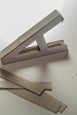 Manualidades decorativas: Haz unas letras decorativas con cartón para tu casa   Nos da mucho gusto que nos visites y que comentes sobre las ...
