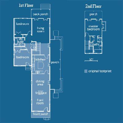Creole Cottage Floor Plan