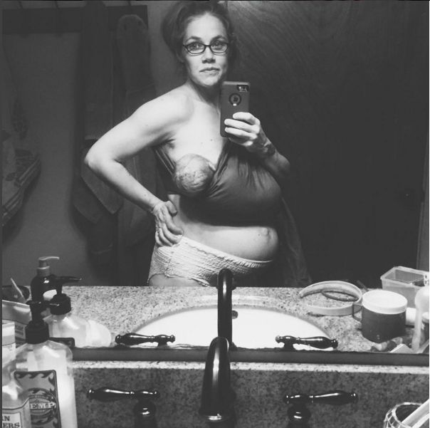 Last week, Ohio lifestyle photographer Erica Andrews gave birth to her fifth child at home. Less than a day later, still reeling from the experience, she uploaded a raw selfie to her Instagram account. | This Mom's Raw Selfie Shows What 24 Hours After Giving Birth Really Looks Like