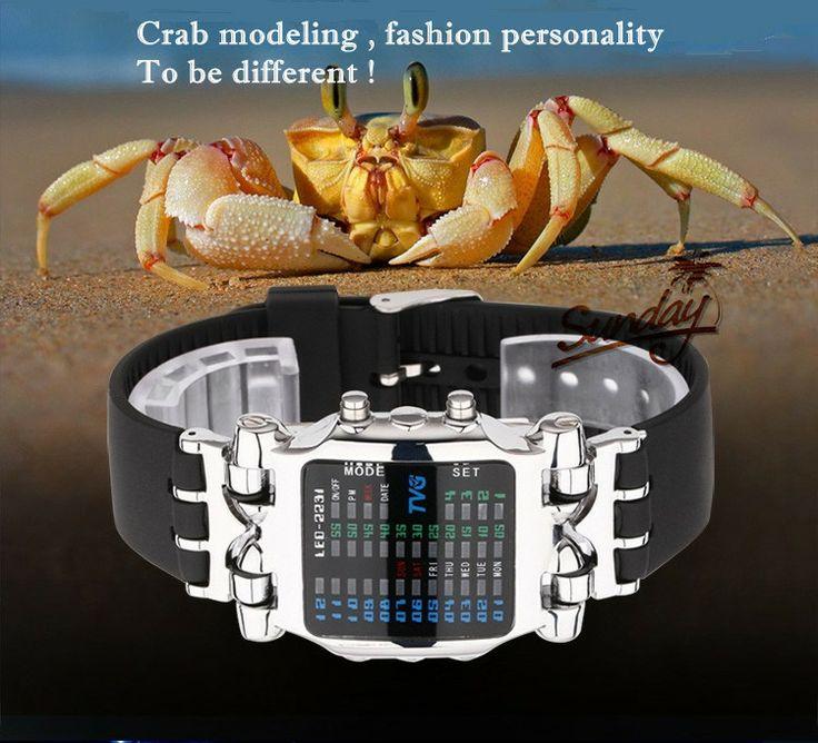 Armbandsur TVG - Crab (silver) #klocka #klockor #watch #watches #herrklocka #herrklockor #sportklocka #armbandsur #fickur #pocketwatch #steampunk