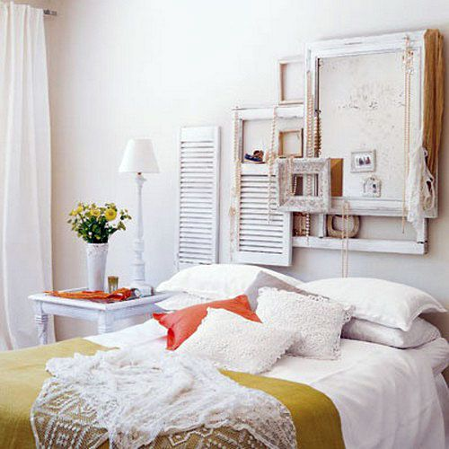 Modern Vintage Bedroom Decor Loved the frame idea