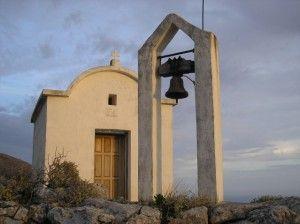 Profitis Illias Church, high above Anidri, near Paleochora