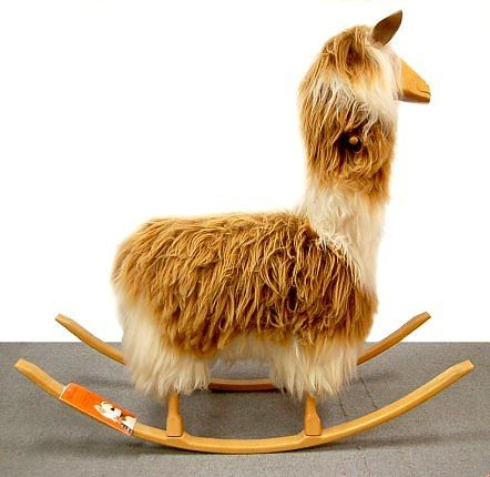What you never knew you needed but now can't stop thinking about. llama rocking horse