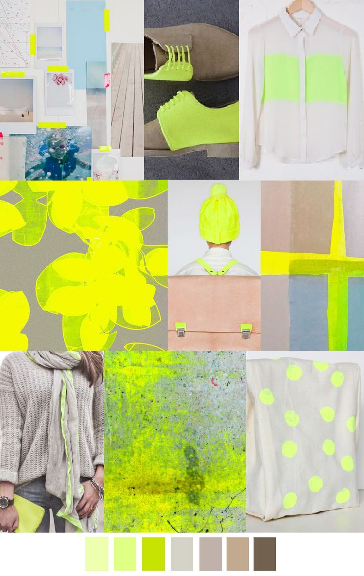 PATTERN CURATOR | Natural neon-unexpected balance of neutral tans & off white paired with hit of electric greens & yellows.