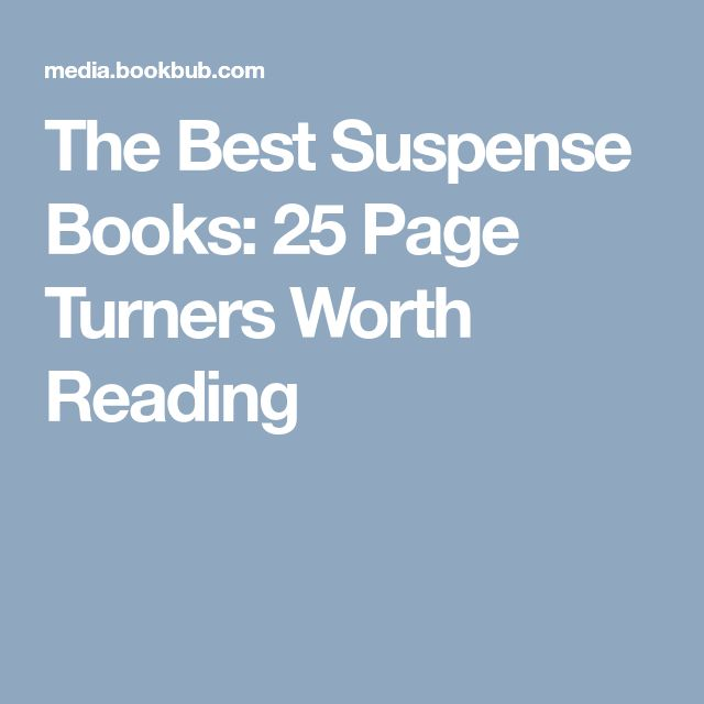 The Best Suspense Books: 25 Page Turners Worth Reading