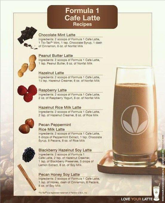 formula 1 cafe latte recipes