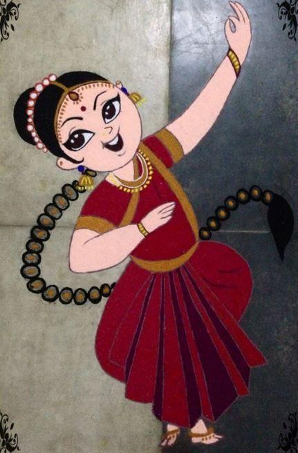Cartoon Rangoli Designs for Competition in School