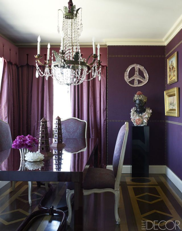 Alex Papachristidis's NYC Apartment/purple interiors/decor