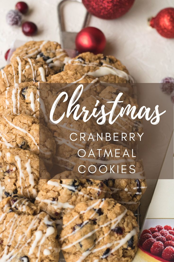 These Cranberry oatmeal cookies are the best soft and chewy holiday cookies! They are extremely easy to make and so so s…