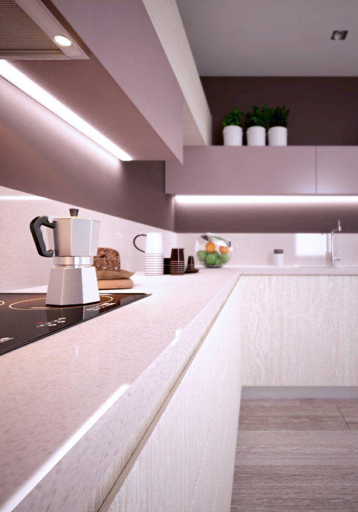 led k chenbeleuchtung k chendesign led streifen k che. Black Bedroom Furniture Sets. Home Design Ideas