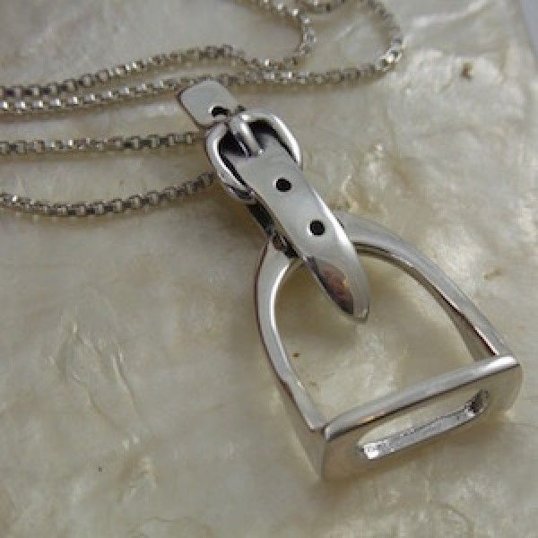 Stirrup Pendant - Sterling Silver Equestrian Jewellery - Horse Gifts NZ