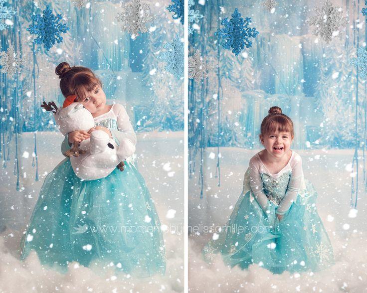 Disney's Frozen photoshoot toddlers Olaf snow