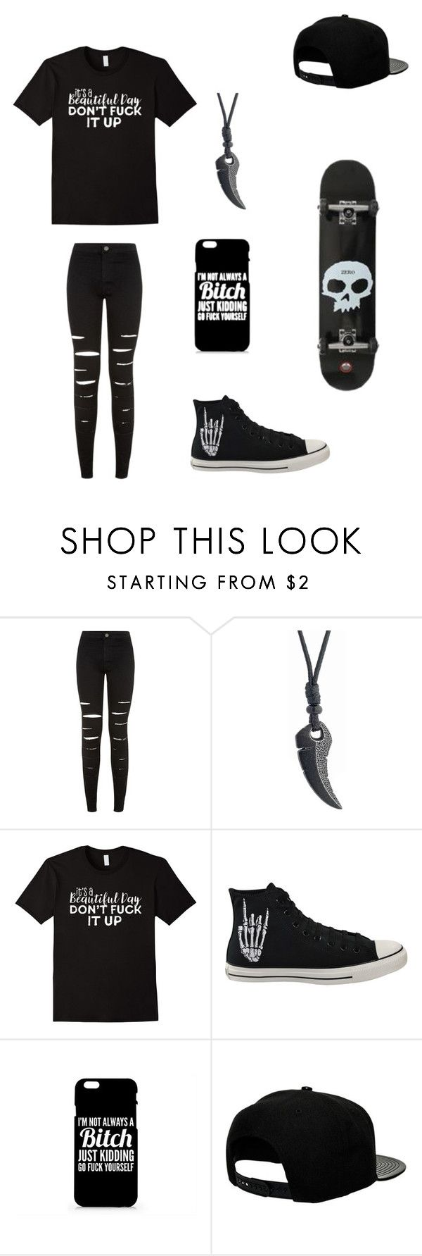 """Untitled #106"" by darksoul7 on Polyvore featuring New Look, Converse and '47 Brand"