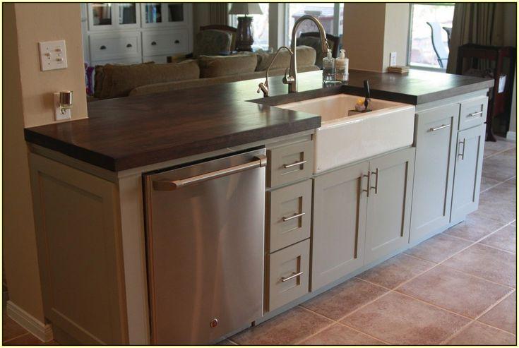 Kitchen Island With Sink And Dishwasher Best Home Design