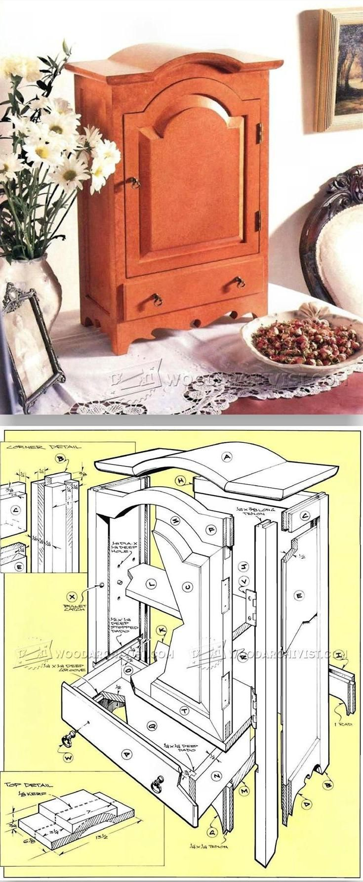 Table Top Jewelry Armoire Plans - Woodworking Plans and Projects | WoodArchivist.com